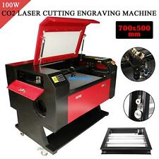 100W CO2 USB Port Laser Engraver Cutting Engraving Machine Cutter w/ Rotary Axis