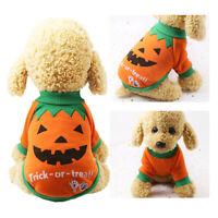 Pet Dog Pumpkin Suit Halloween Costume Party Clothes For Puppy Cat ILJ