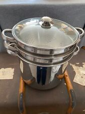 Very Large Stainless Steel Pasta Pot With Steainer