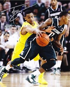 TREY BURKE RP SIGNED 8X10 PHOTO MICHIGAN WOLVERINES VS MSU NOT IN MY HOUSE