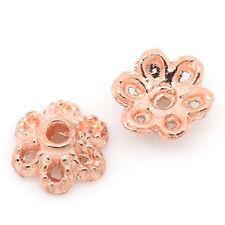 Perlkappen rosegold für 8-12mm Perlen 25 Stück V132