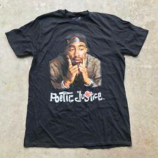 Tupac Shakur 2Pac Poetic Justice Retro Rap Hip Hop Music T-Shirt Men's Large
