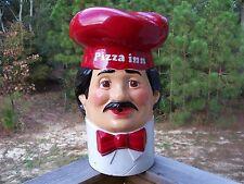 "Pizza Inn Pizza Man Figural Helium Balloon Inflator Tank Topper Circa 1970""s"