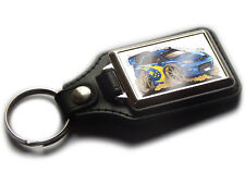 SUBARU IMPREZA STI Rally Car WRC Koolart Quality Chrome And Leather Keyring!