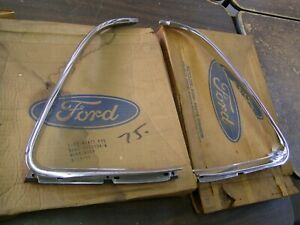 NOS OEM 1969 1970 Ford Galaxie 500 Quarter Window Mouldings 2 Door Hardtop