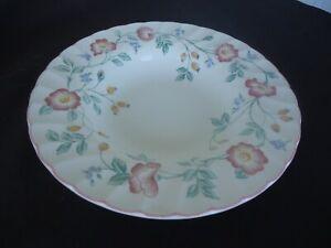 vintage churchill briar rose rimmed soup bowl england