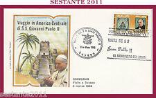 W508 VATICANO FDC ROMA GIOVANNI PAOLO II WOJITYLA  VISITA HONDURAS SUYAPA 1983