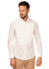 RRP €140 KARL LAGERFELD Shirt Size IT 48 / M Pleated Bib Front Made in Italy