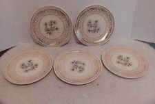 Lifetime China, Semi-Vitreous, Pine Cone, Bread/Butter  Plates, Lot of 5, USA