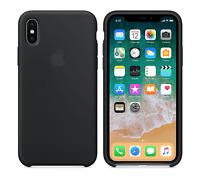 "SCHWARZ 100% ORIGINAL Apple Silikonhülle für iPhone X 5.8"""