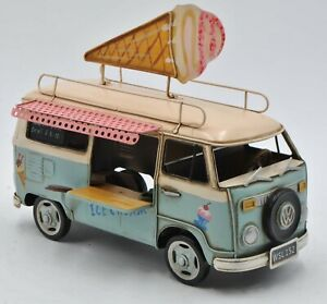 Fast Food Ice Cream Truck 1:18 Scale Car Model Diecast Gift Toy Vehicle Adult