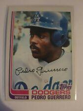 1982 Topps Pedro Guerrero #247 Dodgers SIGNED