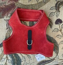 Natural SOFT Suede Leather CAT DOG Harness Vest HIGH QUALITY XS Retails 44.99