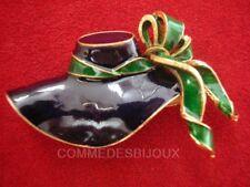 """Broche """"Chapeau"""" N° 1 style Marie Ingalls Petite Maison - Bijoux Vintage Sphinx"""