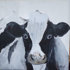 TABLEAU original ,Vache, holstein, noir et blanc, animal, hollande