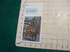 Vintage High Grade brochure/map: QUEBEC unused, 1974