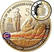 5 Euro Commémorative Malte 2014 - 1ère Guerre Mondiale