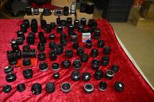 Lot de 80 optiques photo diverses