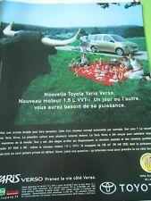 Publicté Advertising 2000  Nouvelle Toyota Yaris Verso
