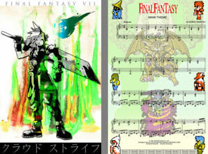 Final Fantasy Lot (2) Music Gamer 8-bit Art 11 x 17 High Quality Posters