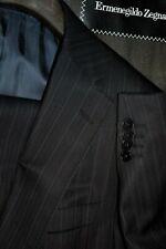$3495 Recent Ermenegildo Zegna Blue Striped Wool Suit 40R 35W Italy