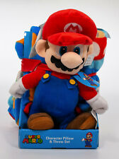 NEW Super Mario Character Throw And Pillow Set