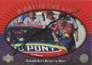 AUTOGRAPHED Jeff Gordon 1999 Upper Deck A DAY IN THE LIFE Signed NASCAR Card COA