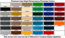 2 Mil Cast Hi-Perf Pinstriping Vinyl Graphics Car Tape Decal Stickers 36' Roll