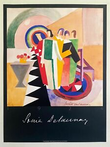 SONIA DELAUNAY RARE 1986 FINE ART LITHOGRAPH PRINT JACQUES DAMASE FRENCH POSTER