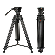 Video Tripod System, Cayer BV30L 72 inch- Professional Heavy Duty Aluminum Twin