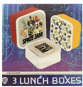 BNWT Official Space Jam a New Legacy Set Of 3 Lunch Snack Boxes