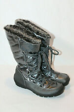 sporto womens 6.5 wide pewter winter snow boots charles