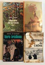 Lot 4 livres sur des récits de voyage, exotiques