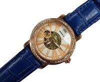 Orologio Polso Monica M6814 Donna Automatico Fashion Pelle Blu Brillantini lac