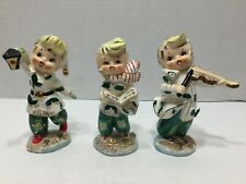 Vintage Lefton Christmas Carolers Figurine Set In Original Box