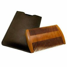 Action Beard Comb Perfect for Balms/Oils Wood Handmade With Case 2-Sided NP2C