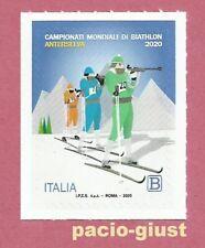 Italia 2020  CAMPIONATI MONDIALI DI BIATHLON  Francobollo singolo