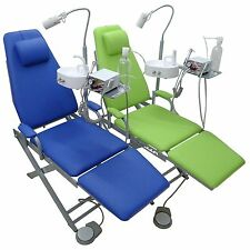 New Updated Dental Mobile Chair Unit + Turbine Unit + LED Lamp + Waste Basin 4H