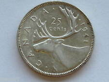 1941 Canada 25 Cents George VI Silver Canadian Coin D3728