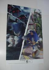 Sonic Unleashed Poster Nintendo Wii Sega the Hedgehog Werehog Mania Sony Movie