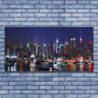 Canvas print Wall art on 140x70 Image Picture Skyscraper City Houses