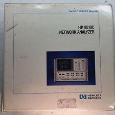 Agilent HP 8510C Network Analyzer On-Site Service Manual P/N 08510-90282