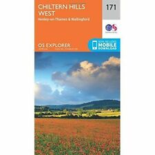 Chiltern Hills West, Henley-on-Thames and Wallingford by Ordnance Survey (Sheet map, folded, 2015)