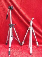 2 Antiguo Trípode __ Telescopio - Soporte de Cámara __ Linhof y Seda __
