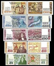 2x 1,5,10,20,50 Irish Pounds - Issue 1976 - 1993 - 10 Banknotes - 02