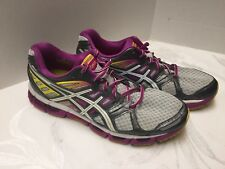 ASICs Gel Cirrus 33 2 Women's Running Shoes Pink/Gray/Yellow/Black Size 9.5 Nice