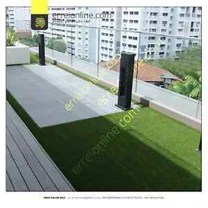 Prato sintetico 8mm manto erboso finta erba giardino tappeto esterno