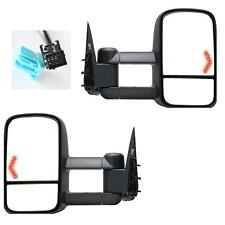 Power Heated LED Signals Towing Mirrors For 03-06 Silverado Sierra Tahoe Pickup