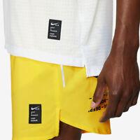 Nike Rise 365 Tank  - White/Chrome Yellow/Reflective Silver UK M (AP767)