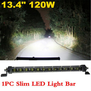 "1PC 13.4"" Slim 6D Spot LED Light Work Bar Lamp Driving Fog Offroad SUV Car Truck"